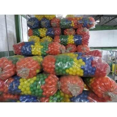 bolinhas coridas p/piscina 76mm c/500 unid a pronto entrega
