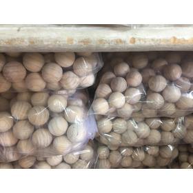 Bolinhas De Madeira 21mm - 100 Unidades