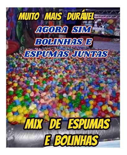 bolinhas + espumas para piscina tombo legal kit c/500+brinde