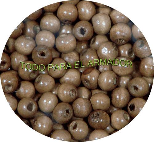 bolitas cuentas de madera p/ rosarios denarios x 500 gramos