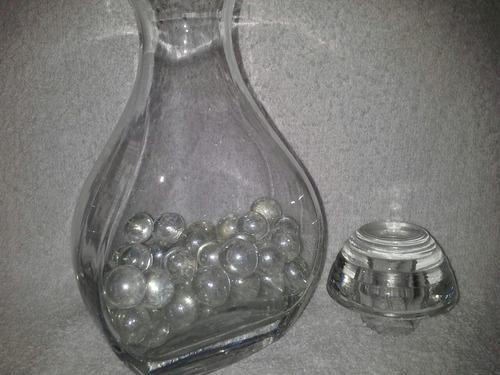 bolitas de vidrio transparente 150 g souvenir centro de mesa