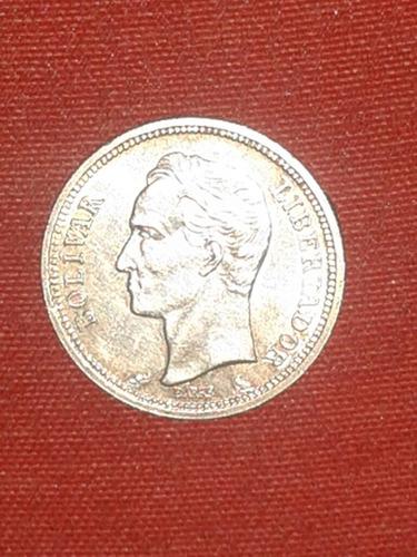bolivar de plata 1965 lei 835 gr 5 (casi sin uso)