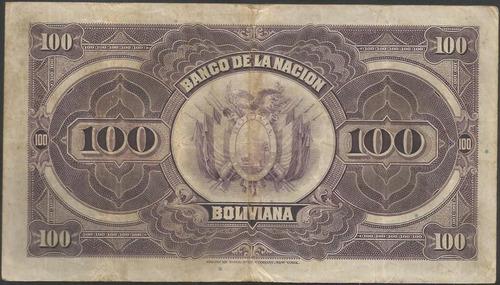 bolivia 100 bolivianos nd1929 serie a p117a