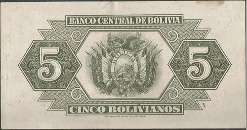 bolivia 5 bolivianos 20 jul 1928 serie u4 p129