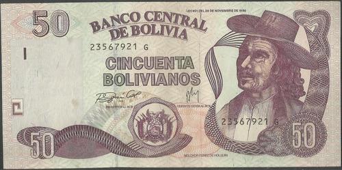 bolivia 50 bolivianos l1986 nd2005 serie g p230