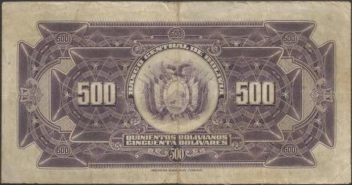 bolivia 500 bolivianos l 20 jul 1928 serie a p126b