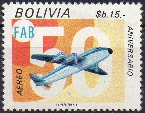 bolívia - aéreo - 1974