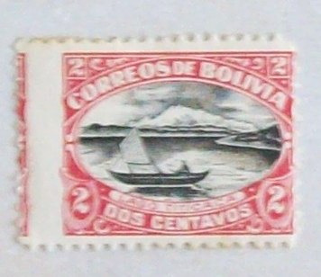 bolivia barcos, sello yv. 106 nuevo + 2 dientes l0247