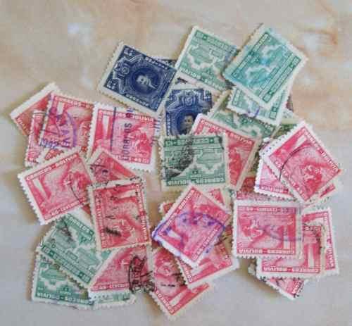 bolivia, lote 45 sellos yv.242-244 usados l0260