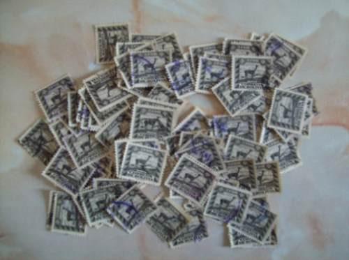 bolivia, lote de 115 sellos yv. 225 usados l0211