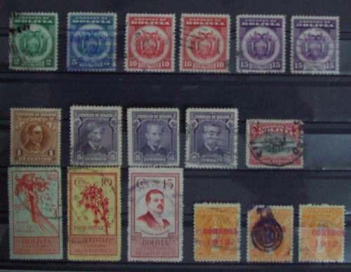bolivia, lote de 17 lindos sellos l0254