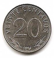 bolivia moneda de acero de 20 cts.año 1967