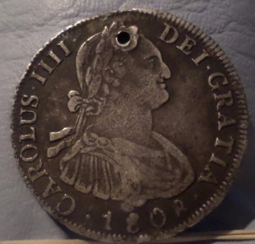 bolivia potosi argentina 4 reales1808 p.j. perforada mb