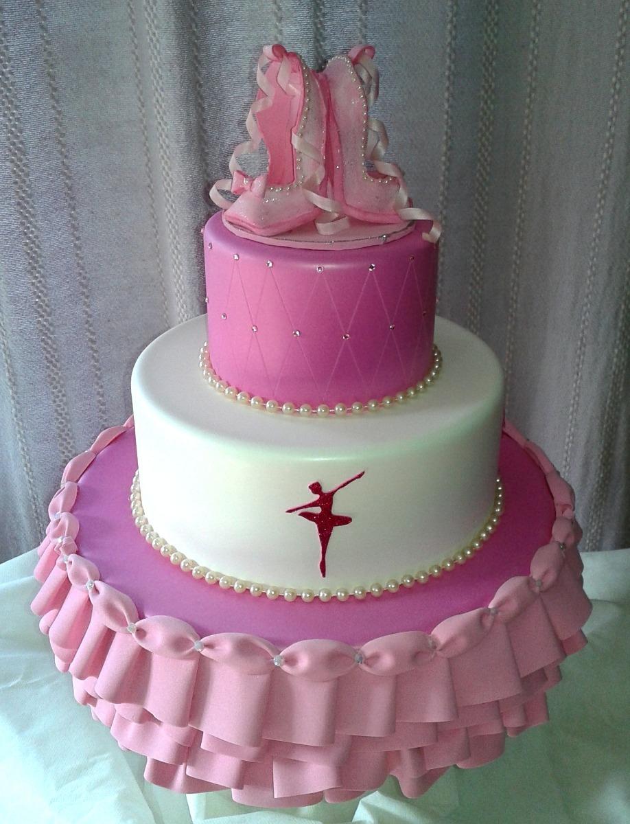 df463c98e8 Bolo Fake Bailarina Rosa Aniversário