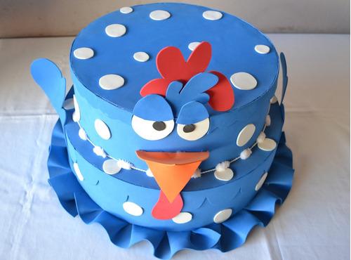 bolo galinha pintadinha em eva