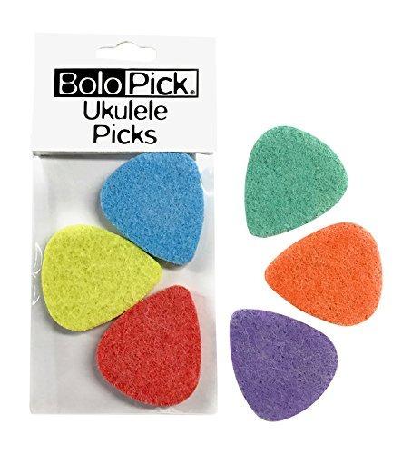 bolopick selecciones de felt para ukulele 6 pack, con