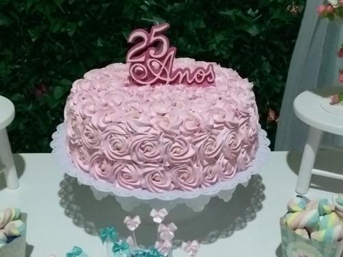 bolos recheados aniversários