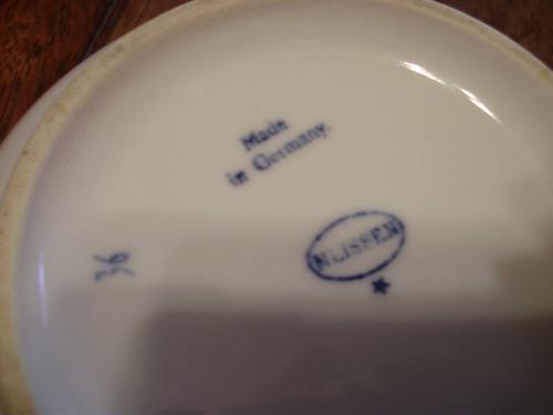 bols de porcelana meissen blue onion circa 1930