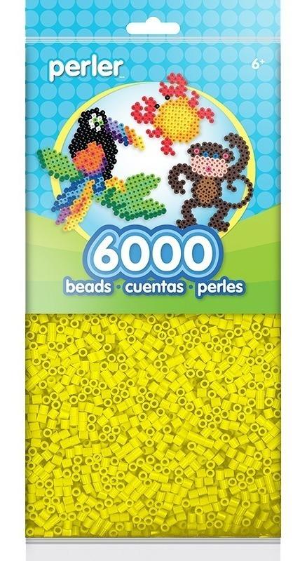 Bolsa 6000 Cuentas Midi 5mm Color Amarillo Perler Beads