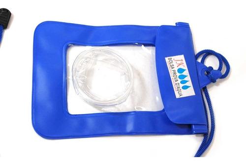 bolsa a prova d'agua jk azul para camera fotografica