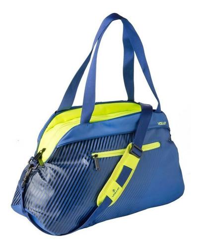 bolsa academia com forro resistente água workout vollo azul