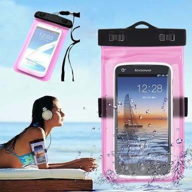 bolsa acuática para tu celular colores
