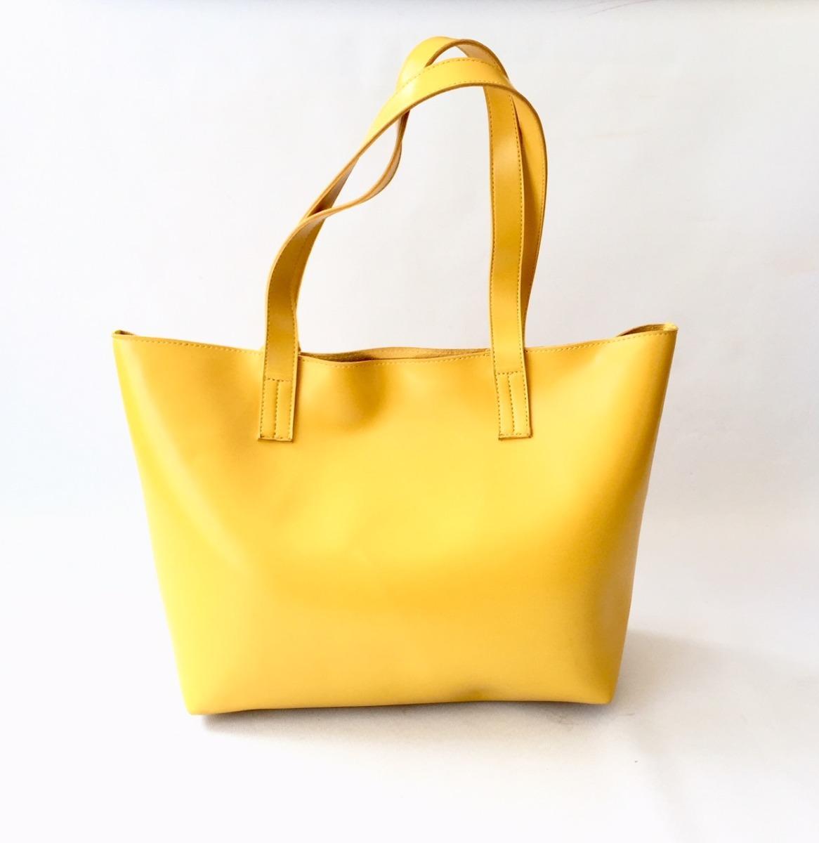 Amarela Bolsa Couro Fashion Em Ecológico WE9YH2eDI