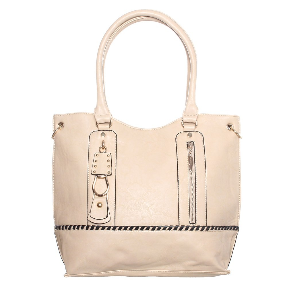 Bolsa feminina de couro via uno : Bolsa apricot via uno r em mercado livre