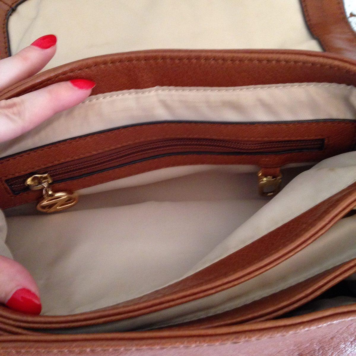 a6e44175a bolsa arezzo couro legítimo caramelo média alça removível. Carregando zoom.