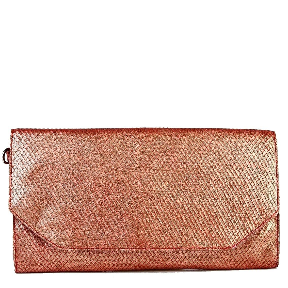 4e25ec3ed9 bolsa arezzo feminina couro legitimo original clutch cobre. Carregando zoom.