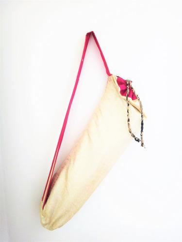 bolsa artesanal de seda para tapete de yoga (portamat) 3