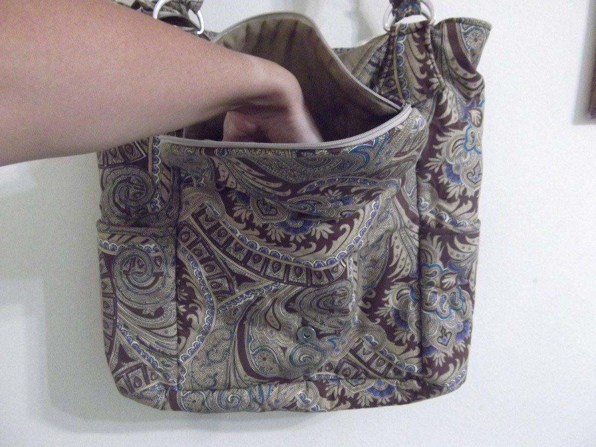 Bolsa De Tecido Artesanal Passo A Passo : Bolsa artesanal de tecido pronta entrega r em