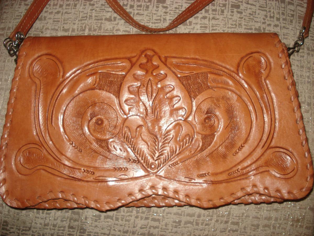 Bolsa De Couro Legitimo Artesanal : Bolsa artesanal em couro legitimo r mercado livre