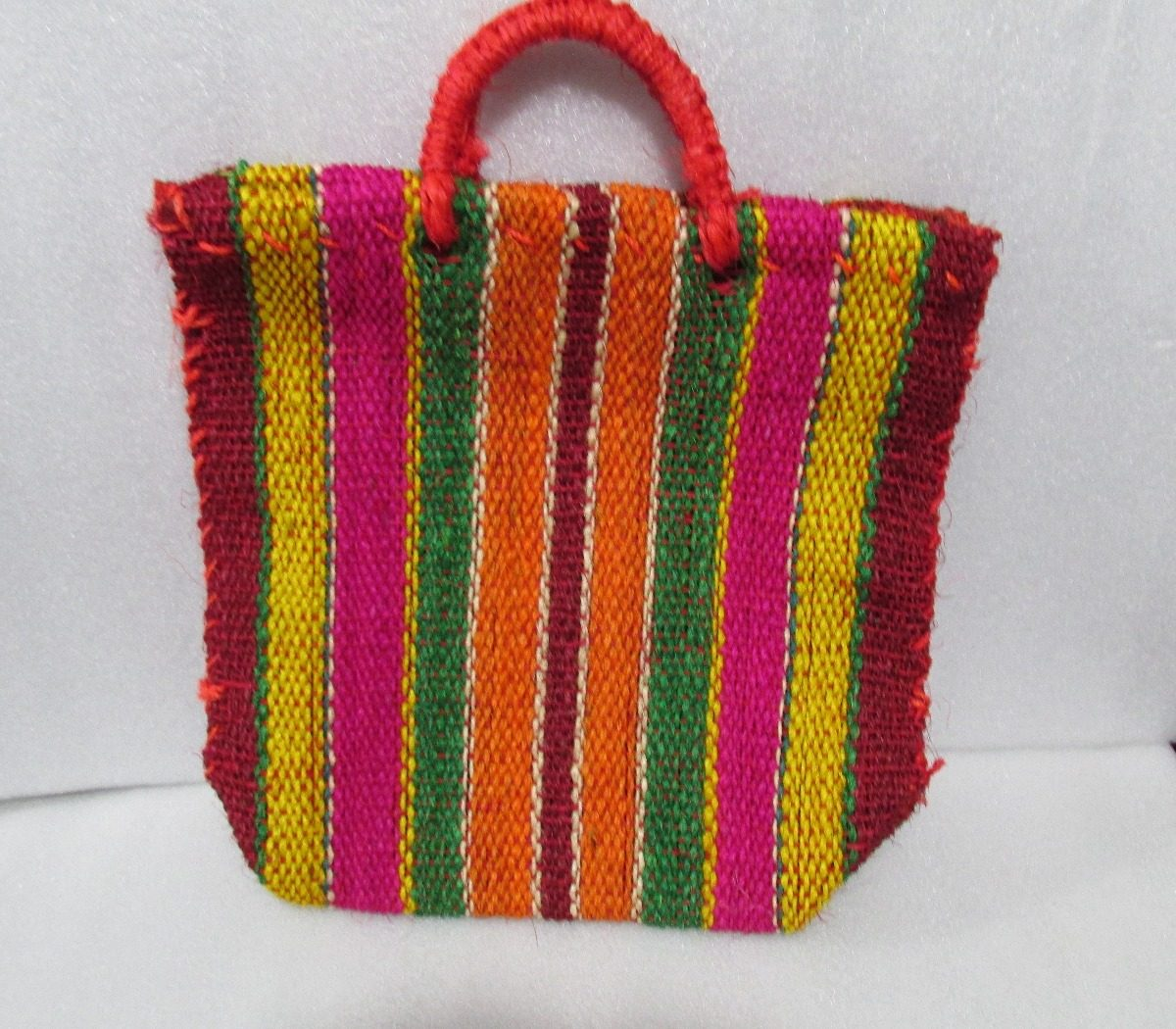 Bolsa Artesanal Hecha De Ixtle,a Mano,encolores Med.n°4,12 P ...