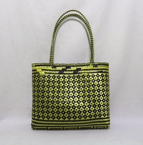 diseño de moda niño brillante en brillo Bolsa Artesanal Tejida Con Fibra De Plástico Morral Calidad