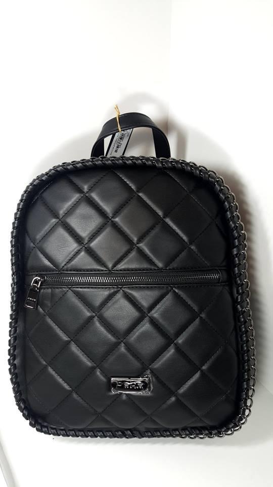 d3a3b0dcd7e Bolsa Back Pack Negra Marca Bebe Nueva Original Para Dama ...