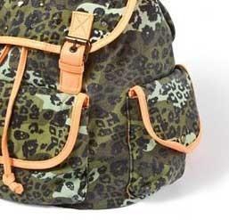 bolsa backpack claires mochila verde militar naranja