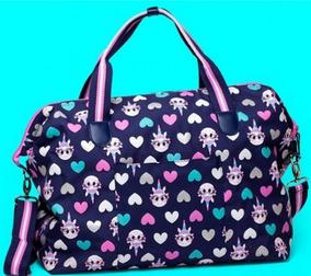 a22e2572f77856 Bolsa Bag Grande Puket Unicórnio Azul Marinho