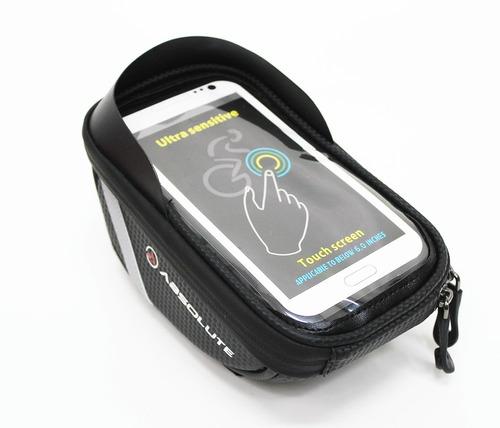 bolsa bike guidão porta celular smartphone objetos absolute