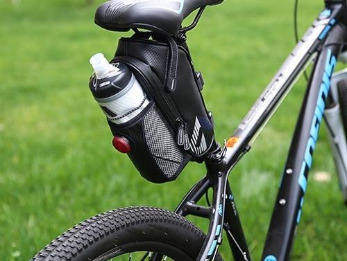 bolsa bike roswheel selim impermeável luz noturna