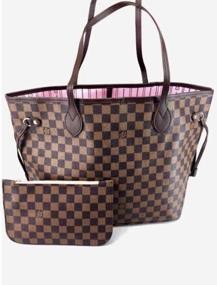 c218ab9a7 Bolsa Bolso Neverfull Lv Louis Vuitton Fondo Rosa Domino - $ 949.00 ...