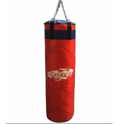 bolsa box boxeo proyec lona vinilica 0.90 metros kick boxing