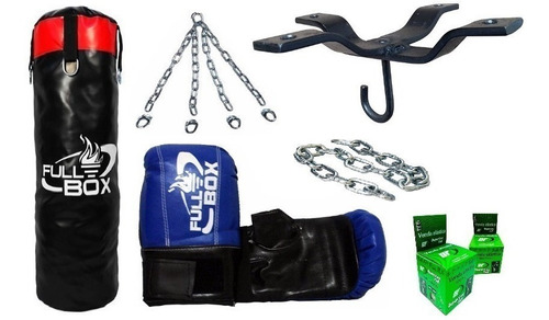 bolsa boxeo lona camion +guantin+vendas+cadenas+soporte df