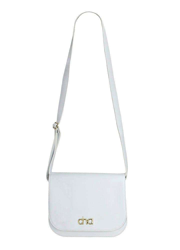 57f044005 bolsa branca tiracolo casual transversal couro ecológico. Carregando zoom.