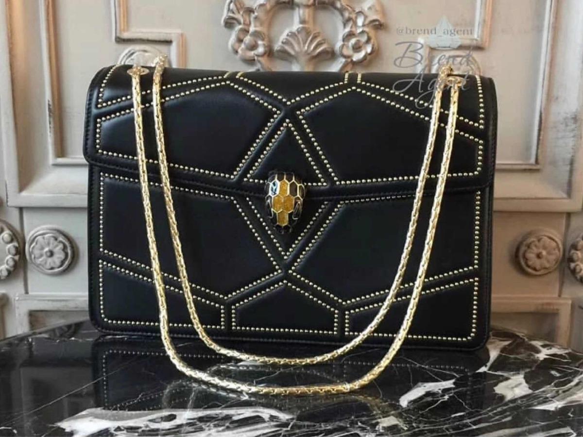 Bolsa Bvlgari Serpenti Preta Couro Legítimo - R  3.899,00 em Mercado ... effa152cc9