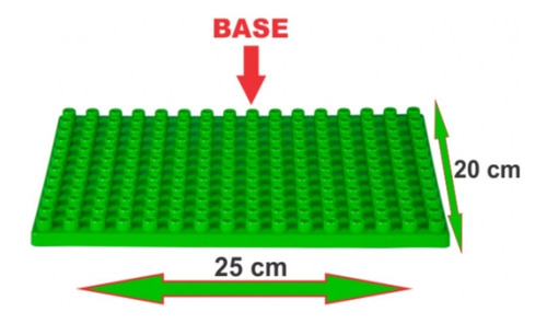 bolsa c/ 174 blocos de montar tamanhos médios + 01 base