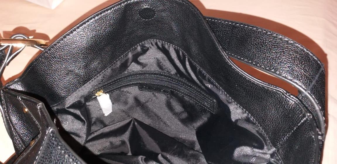 da1781444 bolsa calvin klein preta couro grande original importada. Carregando  zoom... bolsa calvin klein couro. Carregando zoom.