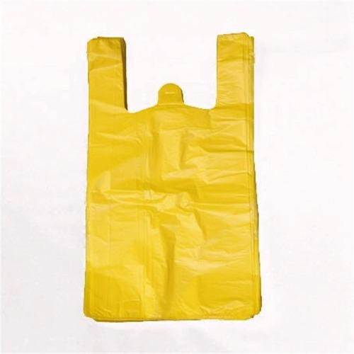 bolsa camiseta pequeña color amarillo por caja