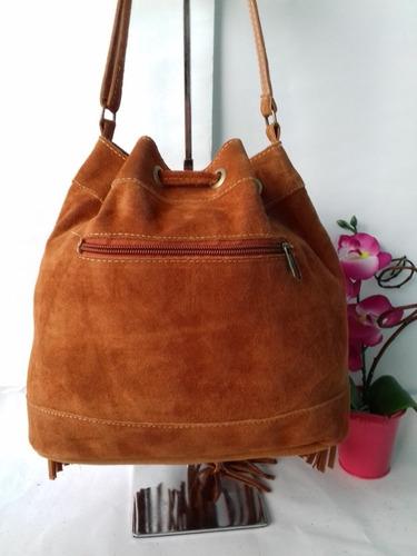 bolsa camurça feminina