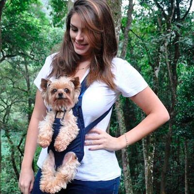 bolsa canguru transporte mochila frontal cães cachorros m